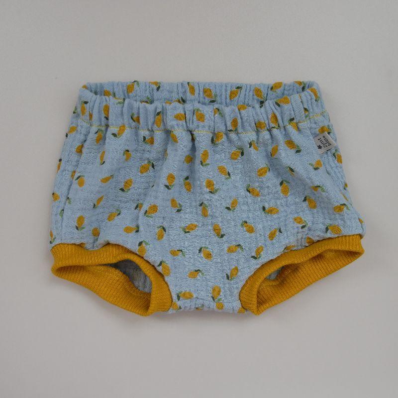 - BUMMIE mit Zitronen Musselin Bloomers kurze Hose   von zimtbienchen für Baby / Kind  - BUMMIE mit Zitronen Musselin Bloomers kurze Hose   von zimtbienchen für Baby / Kind