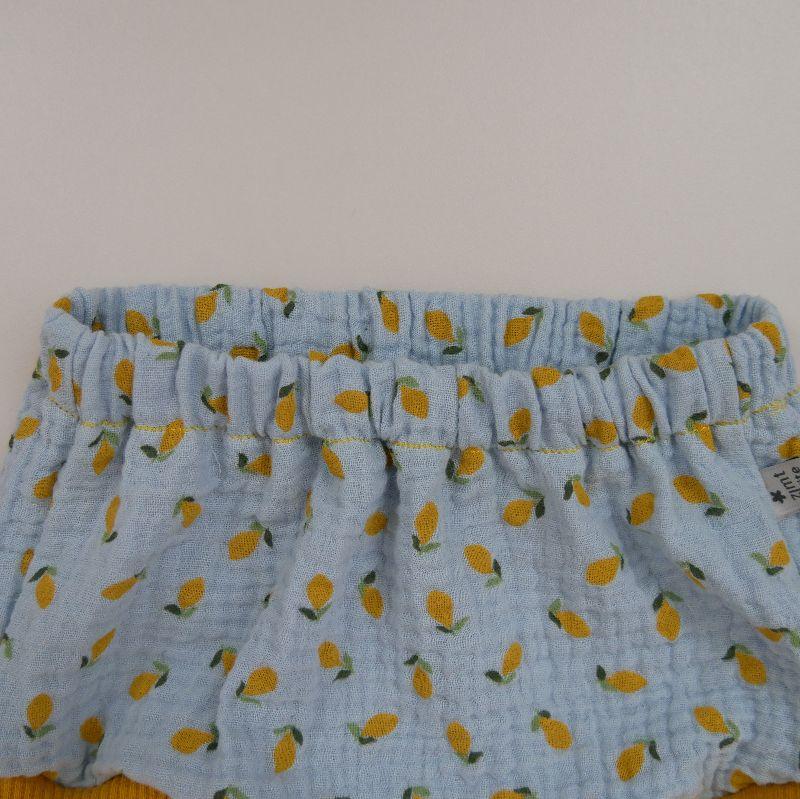 Kleinesbild - BUMMIE mit Zitronen Musselin Bloomers kurze Hose   von zimtbienchen für Baby / Kind