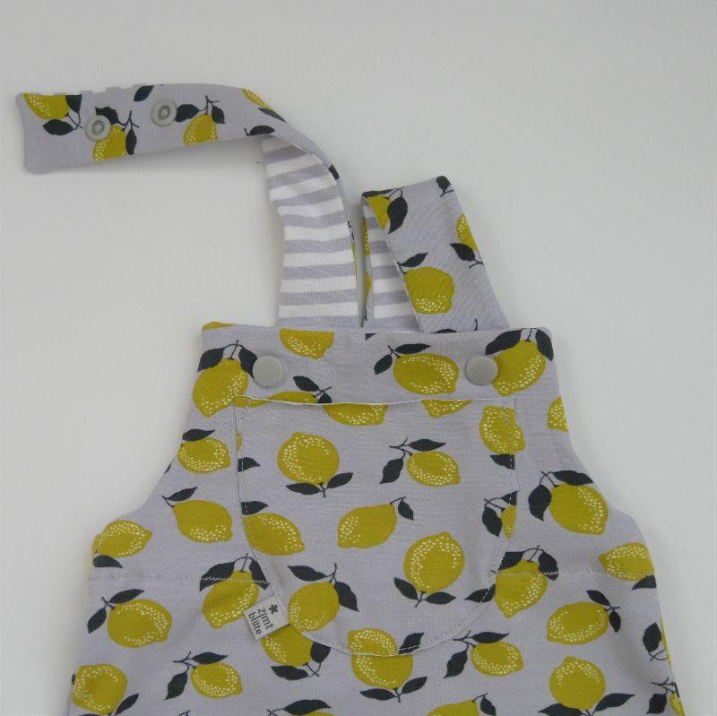 Kleinesbild - ZITRONE kurze Latzhose Jumper trendy für Baby und Kind vom zimtbienchen 44/74  kaufen