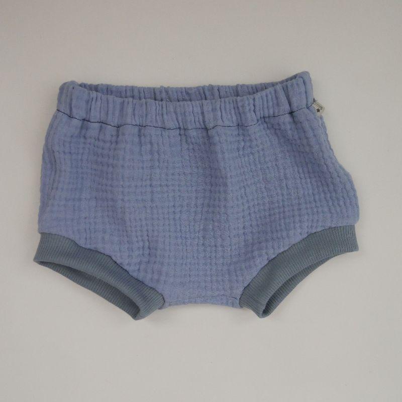 - BUMMIE jeansblau Bloomers kurze Hose aus Musselin von zimtbienchen für Baby / Kind   - BUMMIE jeansblau Bloomers kurze Hose aus Musselin von zimtbienchen für Baby / Kind