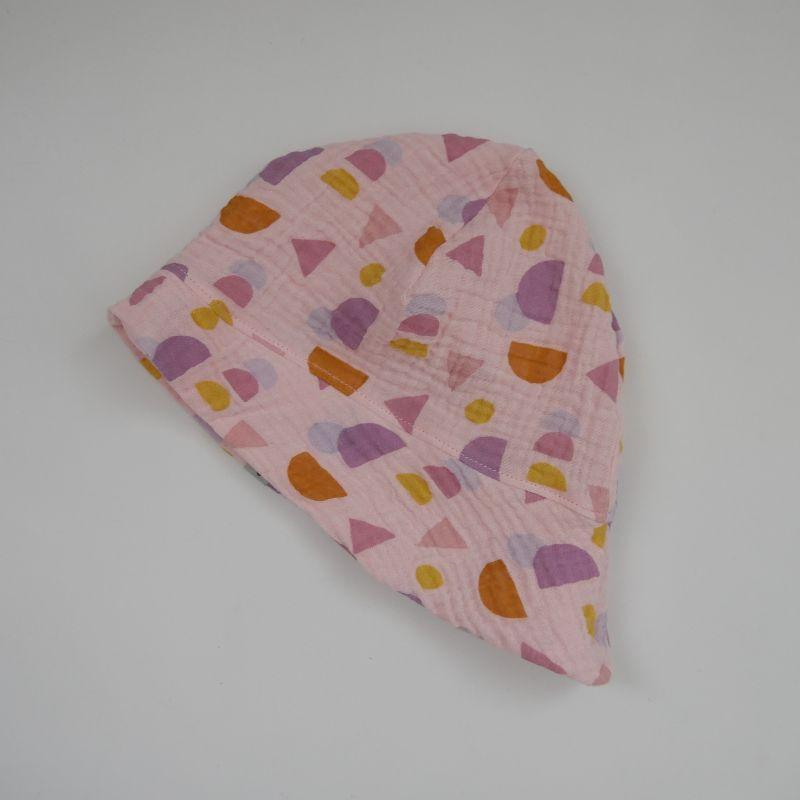 - ROSA Sonnenhut aus MUSSELIN 4 Größen vom zimtbienchen Handarbeit für  Baby - Kind   - ROSA Sonnenhut aus MUSSELIN 4 Größen vom zimtbienchen Handarbeit für  Baby - Kind