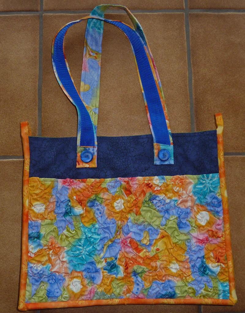 - ♡ bunte Sommertasche mit Außentaschen aus Crashvlies - ♡ bunte Sommertasche mit Außentaschen aus Crashvlies