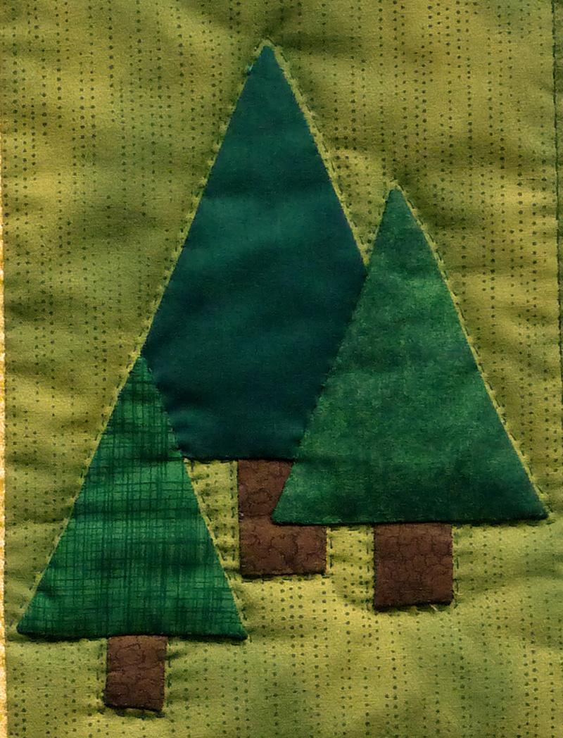 Kleinesbild - ♡ genähte Kissenhüllen mit 3 Bäumen - Zauberwald