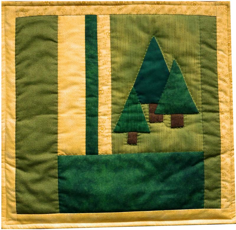 - ♡ genähte Kissenhüllen mit 3 Bäumen - Zauberwald - ♡ genähte Kissenhüllen mit 3 Bäumen - Zauberwald