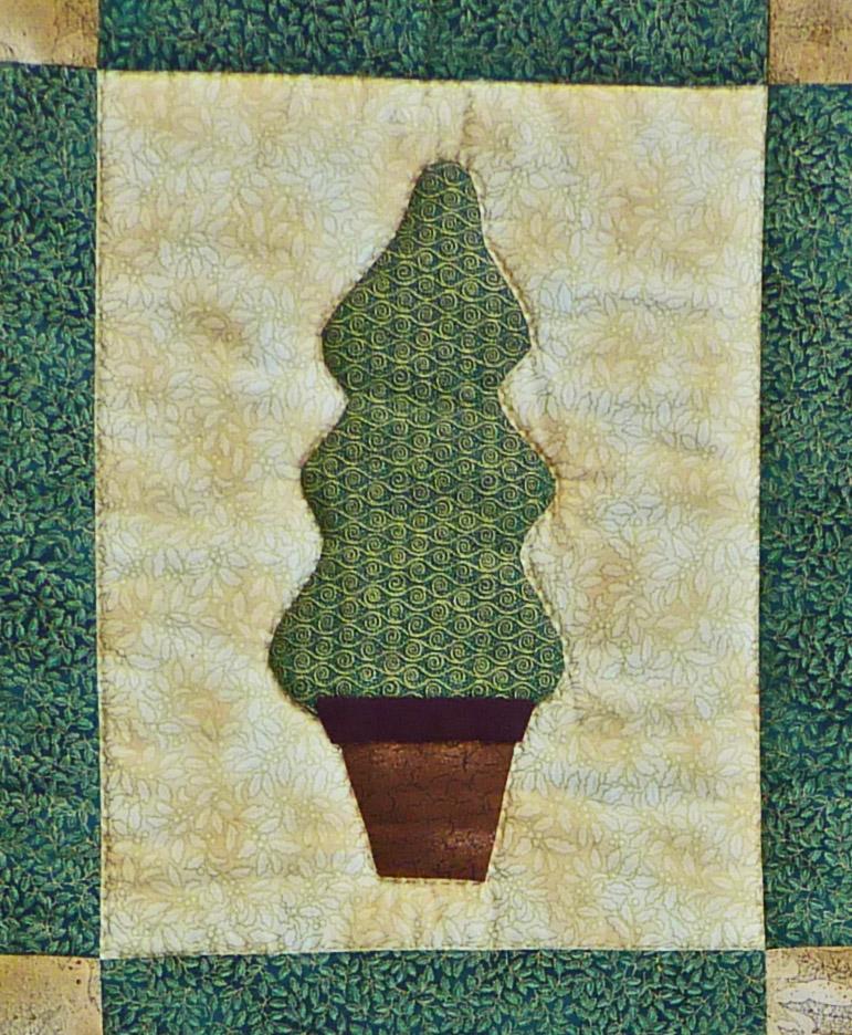 Kleinesbild - ♡ Weihnachtlicher Wandbehang mit 3 applizierten Bäumchen