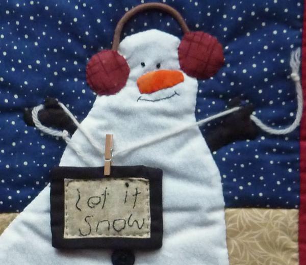Kleinesbild - ♡ kleiner Wandbehang  Schneemann (Winter)