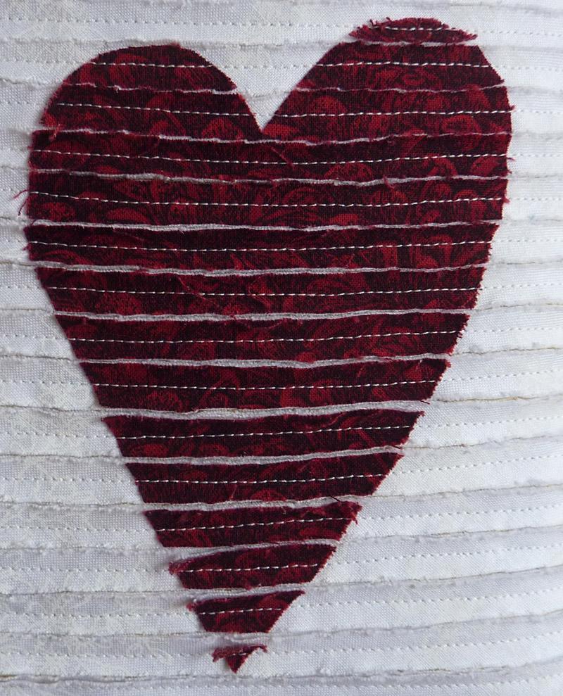 Kleinesbild - ♡ hübscher Kissenbezug mit Herz zum Verlieben