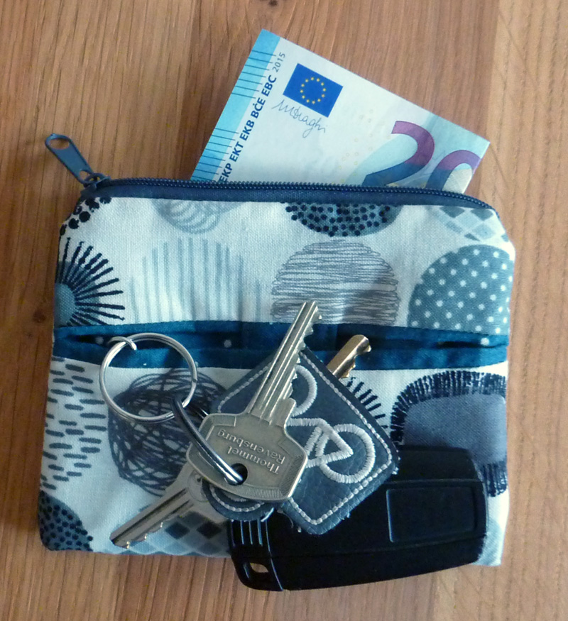 - ♡ praktischer Schlüsselanhänger mit kleiner Reißverschlusstasche - ♡ praktischer Schlüsselanhänger mit kleiner Reißverschlusstasche