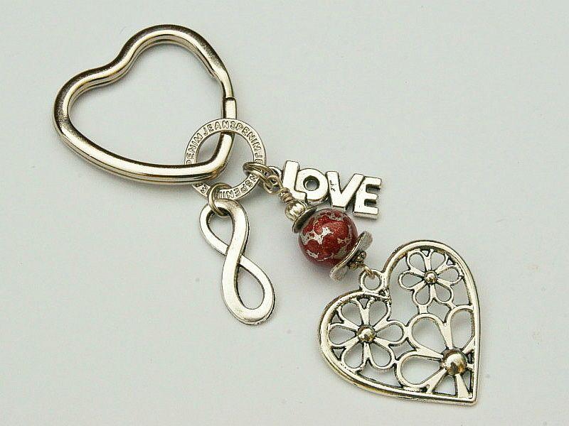 - Schlüsselanhänger Herz Love Infinity Taschenanhänger - Schlüsselanhänger Herz Love Infinity Taschenanhänger