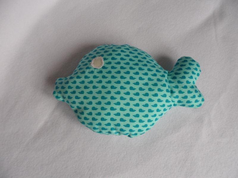 Kleinesbild - Kuschelkissen ♥ Fisch ♥ Baumwolle ♥ Handmade