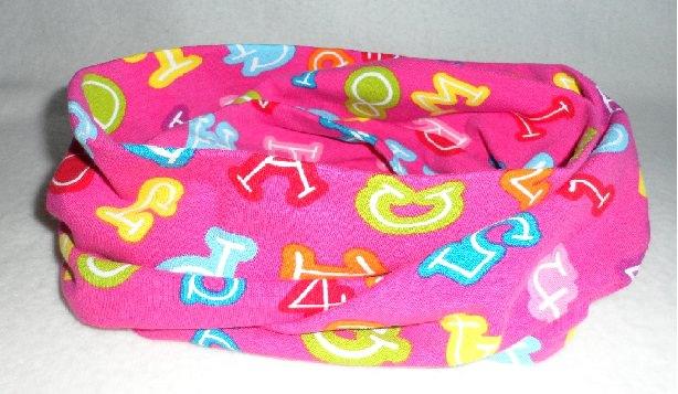 - Kinder Loop ♥ Jersey ♥ pink ♥ Zahlen und Buchstaben ♥ Handmade - Kinder Loop ♥ Jersey ♥ pink ♥ Zahlen und Buchstaben ♥ Handmade