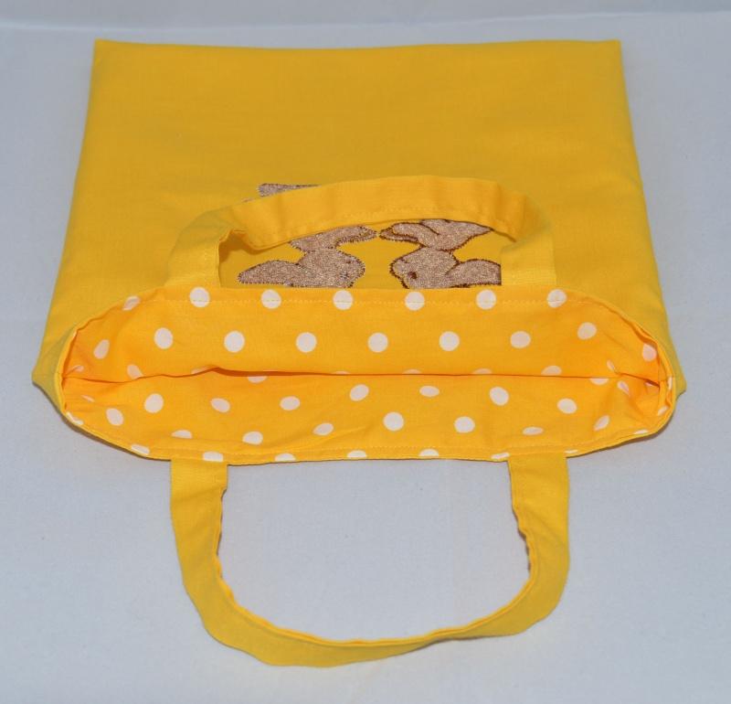 Kleinesbild - Kindertasche ♥ Wendetasche ♥ Stofftasche ♥ Ostertasche ♥ bestickt