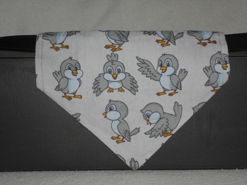 Kleinesbild - Hundehalstuch ♥ Wendehalstuch ♥ Größe M ♥ Vögel ♥ Handmade