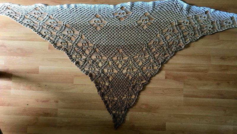 Dreieckstücher Totenkopf Dreieckstuchgehäkelt Tuch Mit