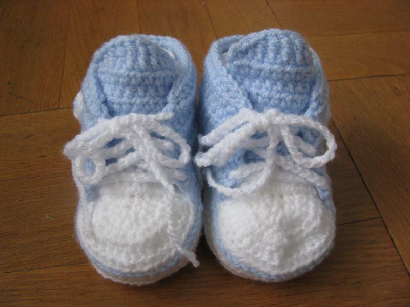 Babyartikel Babyschuhe Gehäkelt Hellblau 10 Cm 3 6 Monate