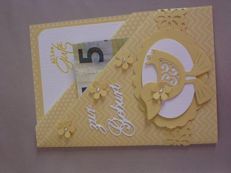 ♥♥Geld-Gutschein-Karte zur Geburt~Nr.318♥♥