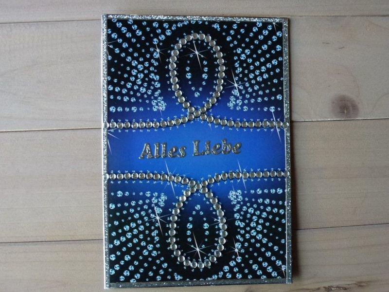 - ♥Grußkarte Karte-Alles Liebe ♡ Glitzersteine♡ Nr.113♥  - ♥Grußkarte Karte-Alles Liebe ♡ Glitzersteine♡ Nr.113♥