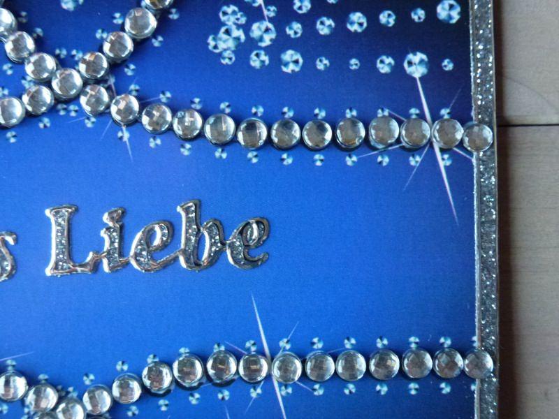 Kleinesbild - ♥Grußkarte Karte-Alles Liebe ♡ Glitzersteine♡ Nr.113♥
