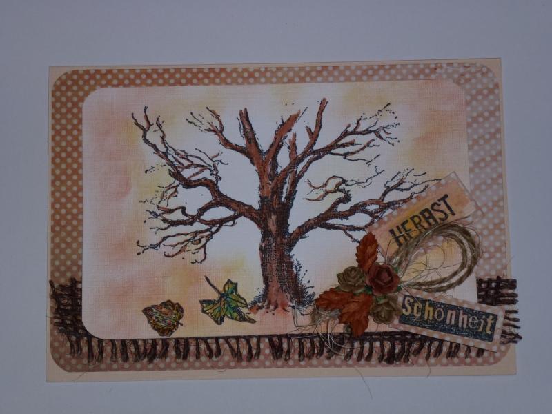 - ♥♥Handgemachte 3D Grußkarte~Herbst~Nr.241♥♥  - ♥♥Handgemachte 3D Grußkarte~Herbst~Nr.241♥♥