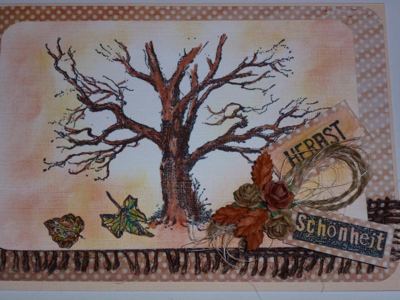 Kleinesbild - ♥♥Handgemachte 3D Grußkarte~Herbst~Nr.241♥♥