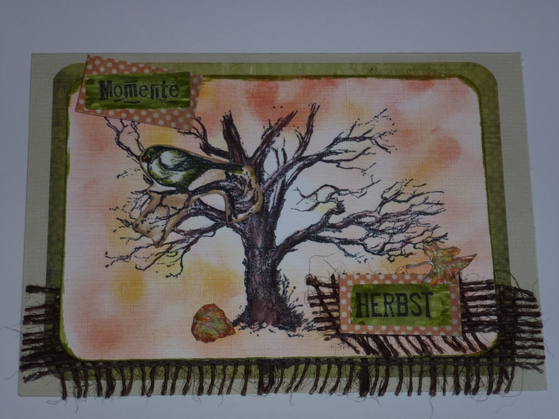 - ♥♥Handgemachte 3D Grußkarte~Herbst~Nr.242♥♥   - ♥♥Handgemachte 3D Grußkarte~Herbst~Nr.242♥♥