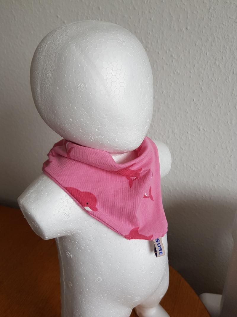 - Halstuch aus Jersey mit Delphindruck und Druckknöpfen - Halstuch aus Jersey mit Delphindruck und Druckknöpfen