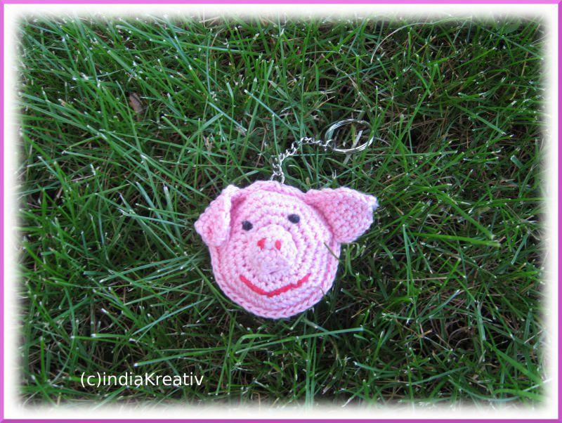 - Schlüsselanhänger Schwein, Glücksschwein ,Taschenbaumler - Schlüsselanhänger Schwein, Glücksschwein ,Taschenbaumler