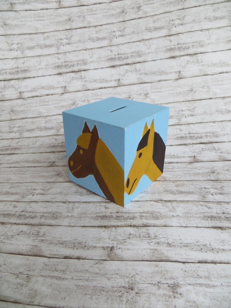 Kleinesbild - Pferde - Spardose, Pferde- Sparbüchse, Geldgeschenk
