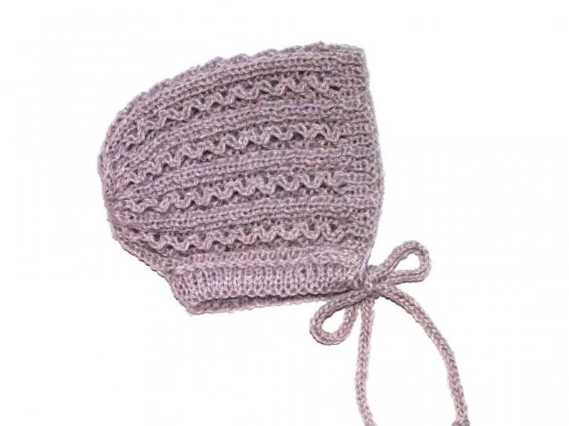 - Handgestrickte Haube für Neugeborene aus weicher Alpacawolle  - ein tolles Geschenk zur Geburt - Handgestrickte Haube für Neugeborene aus weicher Alpacawolle  - ein tolles Geschenk zur Geburt