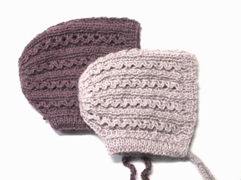 Kleinesbild - Handgestrickte Haube für Neugeborene aus weicher Alpacawolle  - ein tolles Geschenk zur Geburt
