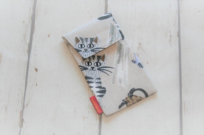 - Handytasche Katzen mit Klettverschluss Gr.L - Handytasche Katzen mit Klettverschluss Gr.L