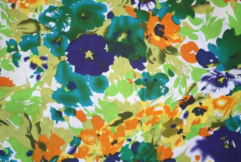 Kleinesbild - Sommer Loopschal mit floralem Druck, Baumwolle
