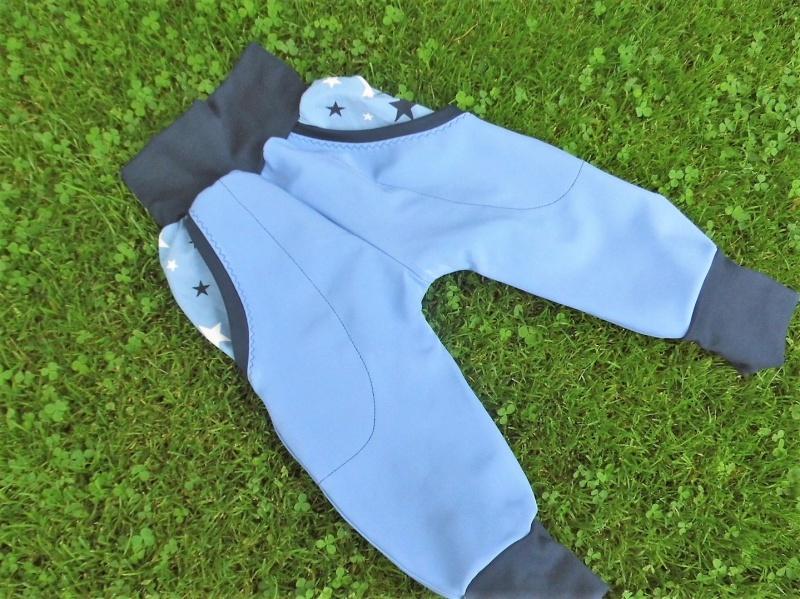 Kleinesbild - Pumphose, Softshellhose, Mitwachshose, taubenblau, wasserabweisend, Gr. 86-98