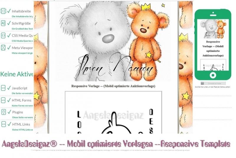 Kleinesbild - Responsive Template Teddy Neutral  Künstler Präsentation Vorlage