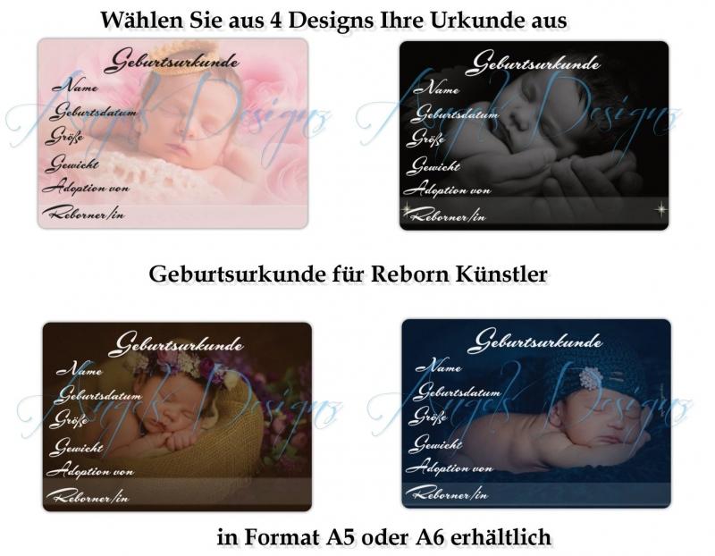 - Geburtsurkunde für Künstler Artisten Reborn Puppen Handarbeit - Geburtsurkunde für Künstler Artisten Reborn Puppen Handarbeit