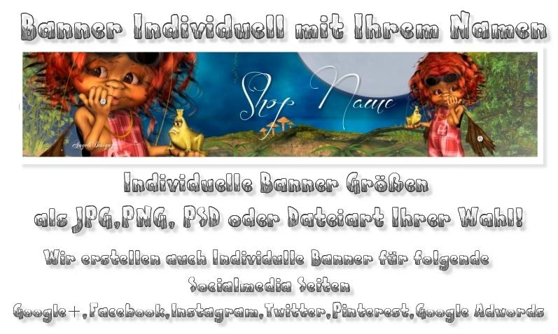 - Banner Shopbanner Individuell mit Ihrem Namen Präsentation  - Banner Shopbanner Individuell mit Ihrem Namen Präsentation