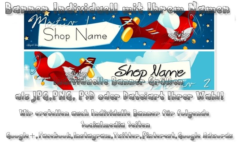 - Banner Shopbanner Präsentation Individuell mit Ihrem Namen - Banner Shopbanner Präsentation Individuell mit Ihrem Namen