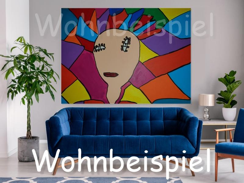 Kleinesbild - Pop Art Acrylbild Moderne Kunst Malerei auf Leinwand Bild Original