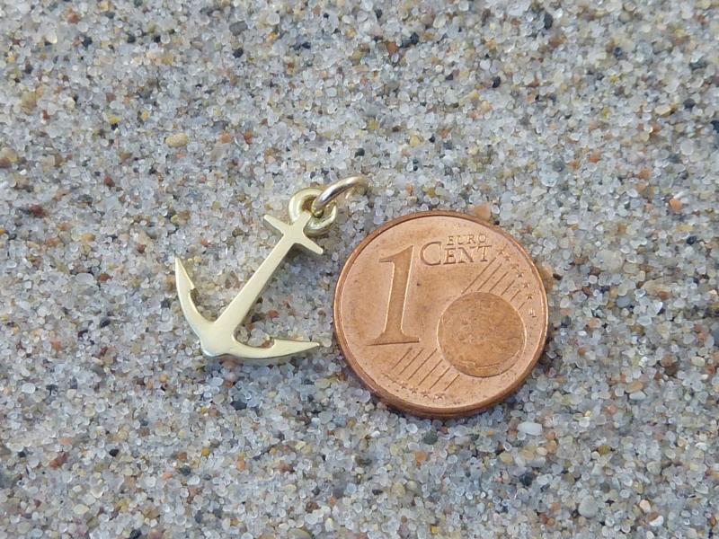 Kleinesbild - Anker-Anhänger, Gold 333, ohne Kette, No 6
