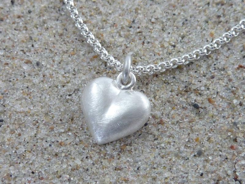- Herz-Anhänger, Silber 925, massiv, ohne Kette - Herz-Anhänger, Silber 925, massiv, ohne Kette