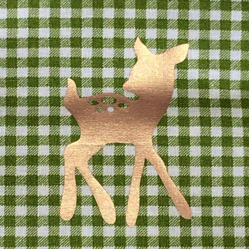 Kleinesbild - Genähter Bezug incl. Kalt/Warm Kompresse, aus Baumwolle, Hülle, Wärmekissen, Kältekissen, Coolpad, aus Baumwolle, Reh, grün/Kupfer