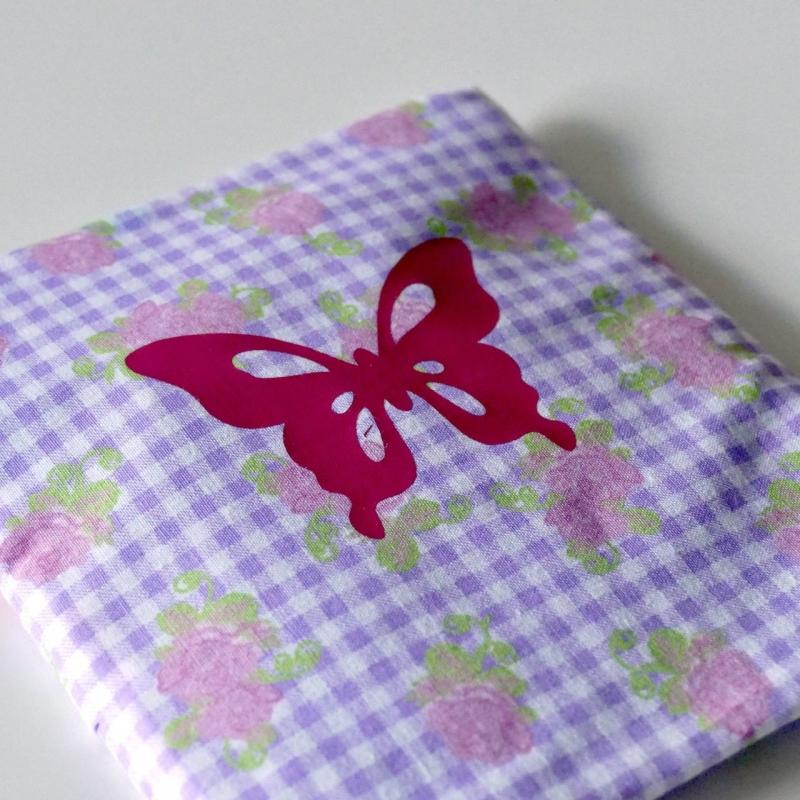 - Genähter Bezug incl. Kalt/Warm Kompresse, aus Baumwolle, Hülle, Wärmekissen, Kältekissen, Coolpad, aus Baumwolle Schmetterling, flieder/rosa/pink  - Genähter Bezug incl. Kalt/Warm Kompresse, aus Baumwolle, Hülle, Wärmekissen, Kältekissen, Coolpad, aus Baumwolle Schmetterling, flieder/rosa/pink