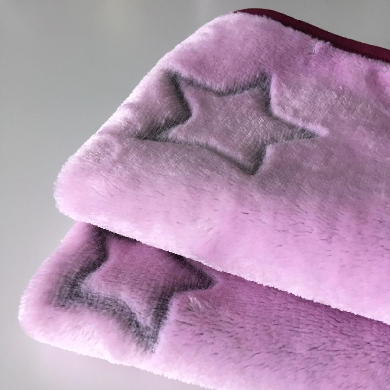 Kleinesbild - Waschlappen Seiftuch Abschminktuch Waschtuch Spültuch, 2-er Set Sterne, rosa/dunkelrot, Küchentuch Putzlappen