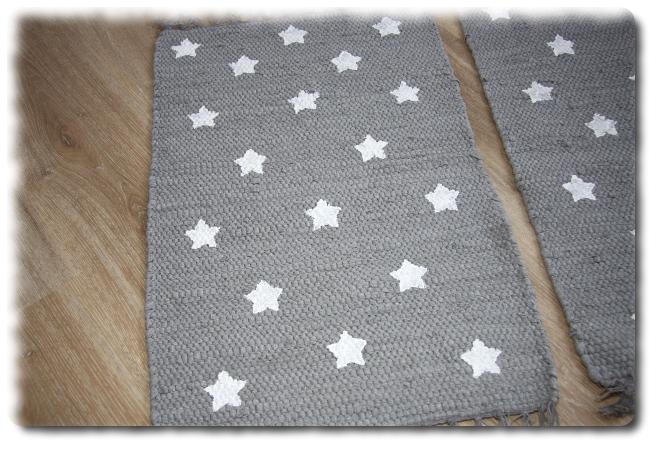 Wohnen Flickenteppich Laufer Kleiner Teppich Fussmatte Sterne