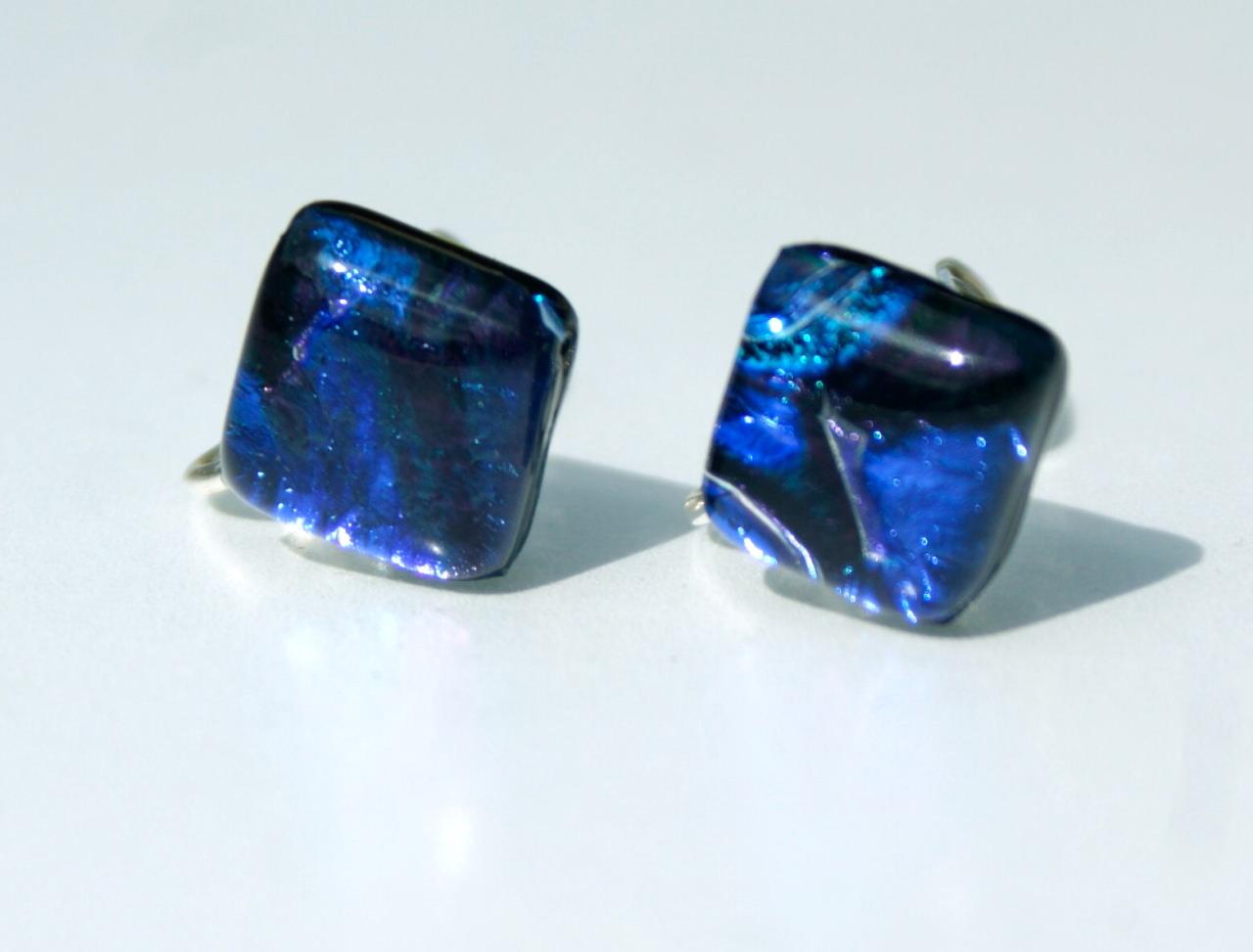 Kleinesbild - Clips Quadrat LINDA dichroitisches Glas