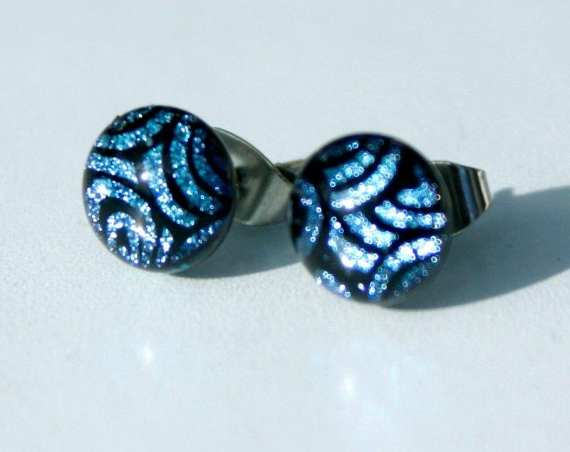 - Ohrstecker Mini-Dots Tiger blau  - Ohrstecker Mini-Dots Tiger blau