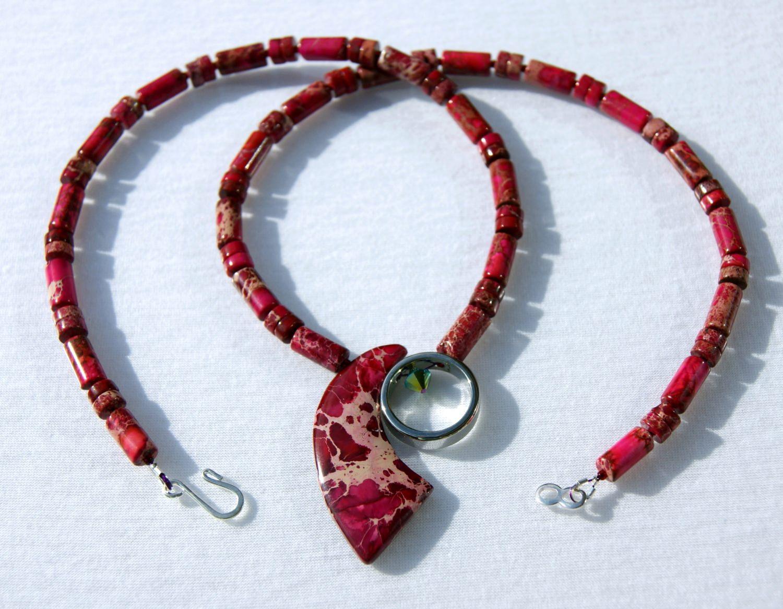 - Kette SEGEL rot Sediment - Jaspis Ring Edelstahl Edelsteinschmuck - Kette SEGEL rot Sediment - Jaspis Ring Edelstahl Edelsteinschmuck