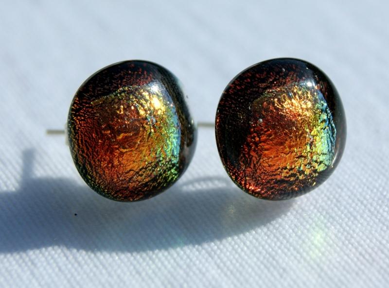 Kleinesbild - Ohrstecker SYLT dichroitisches Glas 925er Silber