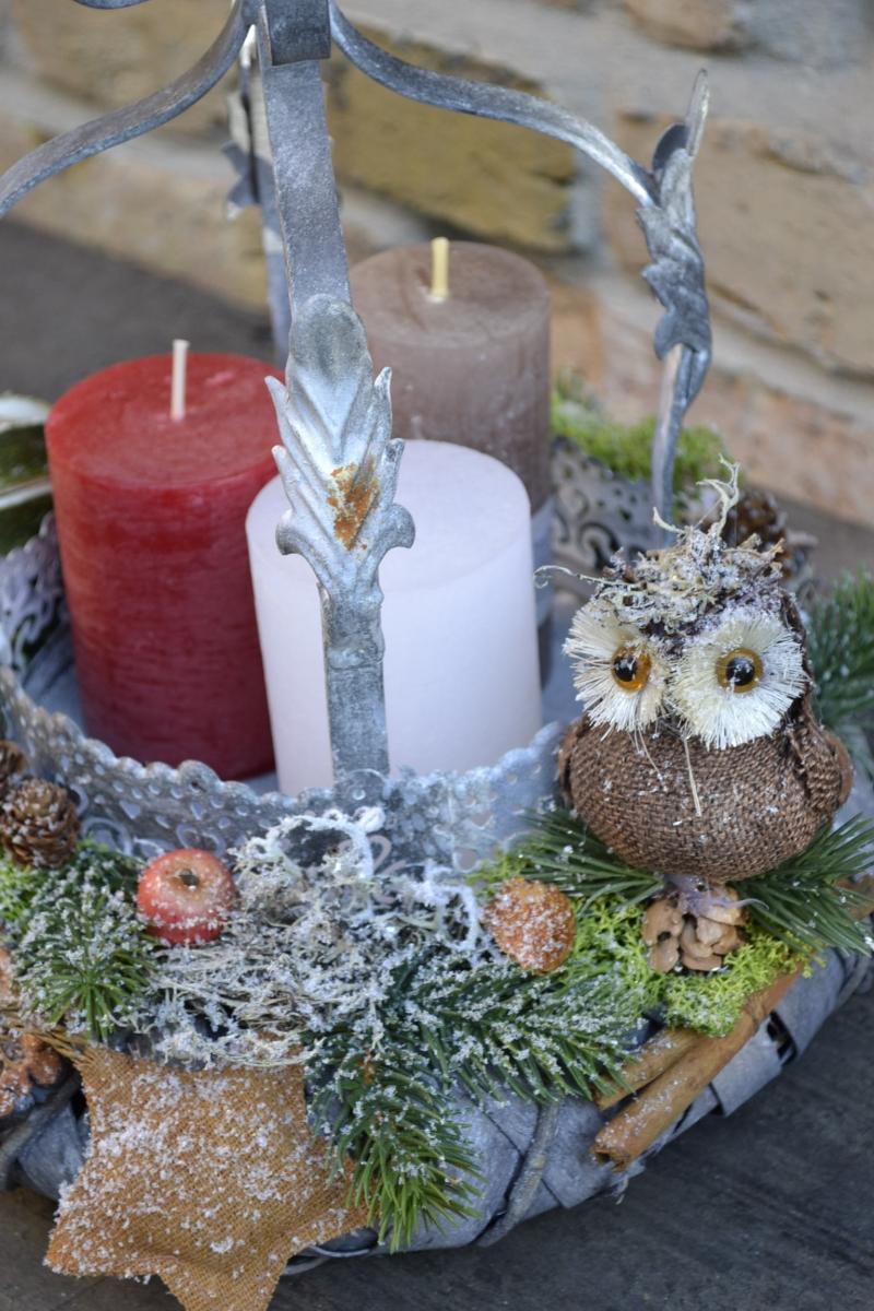 Kleinesbild - Moneria-Adventskranz-Adventsgesteck-Vorfreude