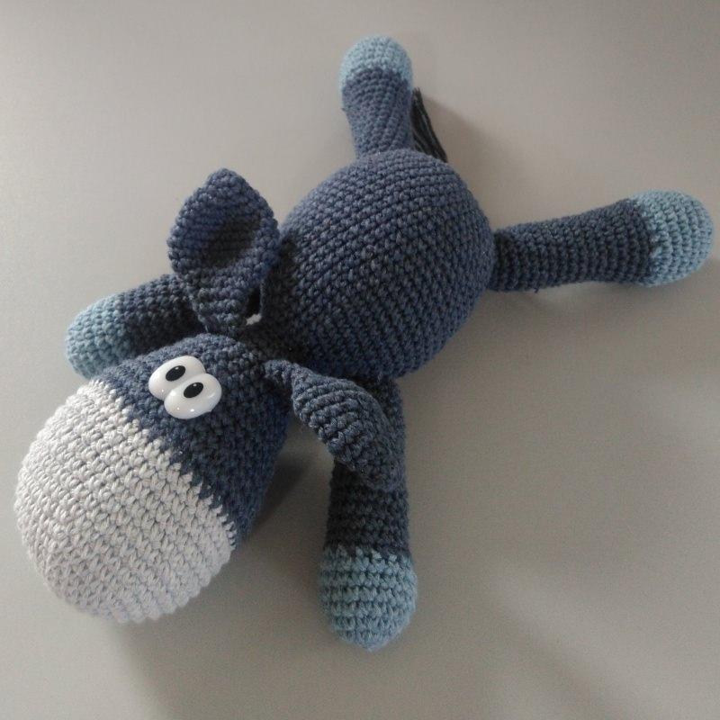 - Süßer Esel gehäkelt - zum schmuseln, knuddeln und lieb haben - aus Baumwolle - ca. 22 - 25 cm lang - Süßer Esel gehäkelt - zum schmuseln, knuddeln und lieb haben - aus Baumwolle - ca. 22 - 25 cm lang